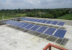 Installation of solar power plant for farm house, home