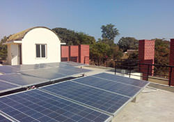 Solar Power Plant at School