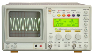 30 MHz 2 Channel 4 Trace Digital Readout Oscilloscope