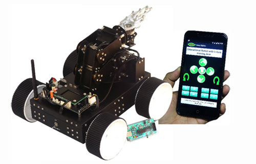 Educational Robot with 5 Axis moving Arm