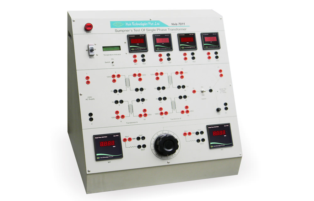Sumpner`s Test of Two Single Phase Transformer