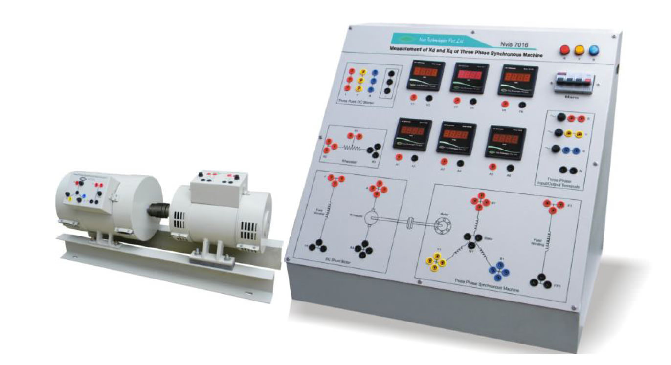 Measurement of Xd and Xq of Three Phase Synchronous Machine